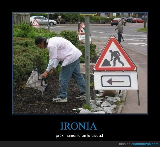 ironia,paraguas,señal