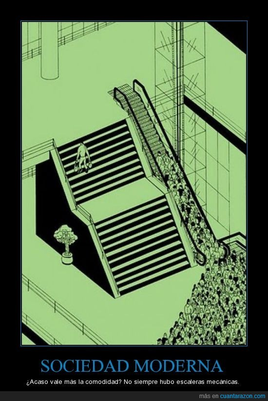 escaleras mecánicas,moderna,sociedad