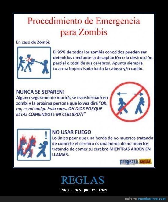 reglas,zombies