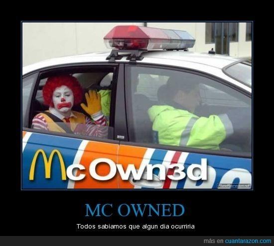 arresto,mcdonalds,policía,ronald