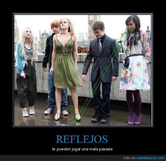 bragas,harry potter,hermione,reflejos