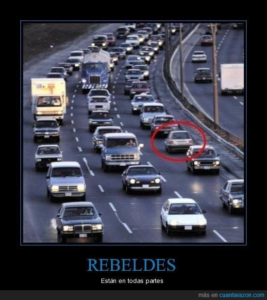coche,contradirección,rebelde