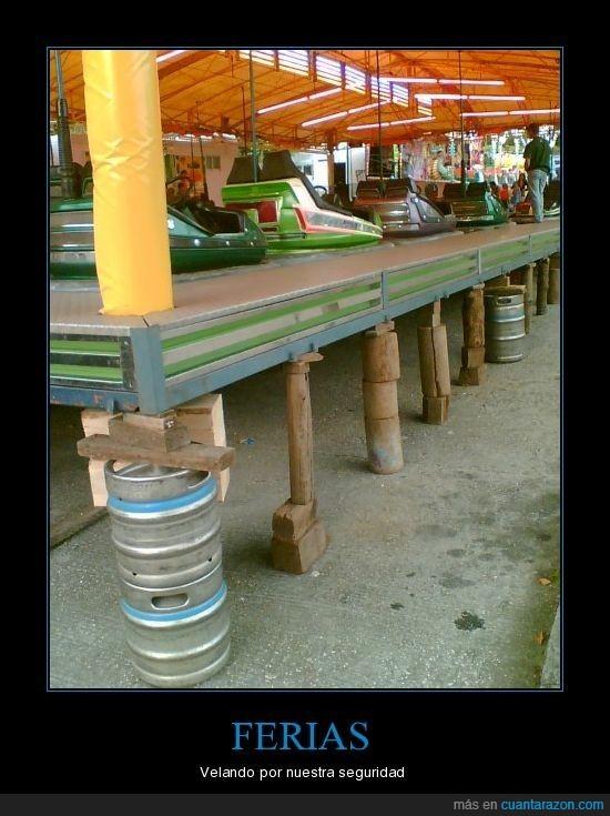 autos,barril,choque,feria,seguridad