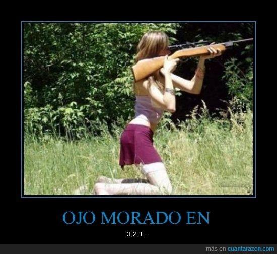 escopeta,morado,ojo,retroceso,rifle