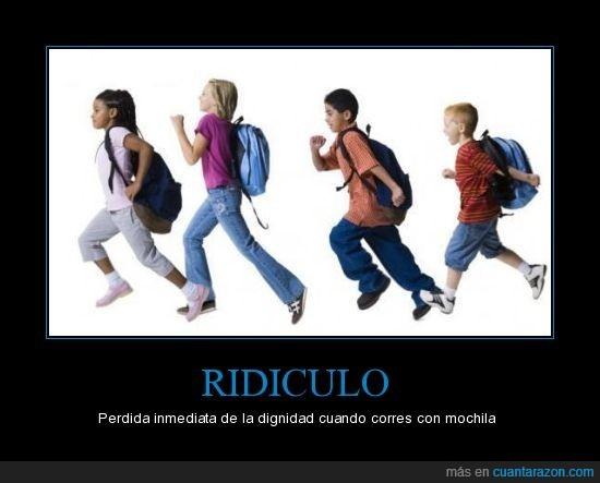 correr,mochila,ridiculo