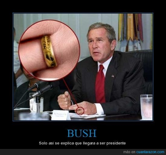 anillo,bush,presidente