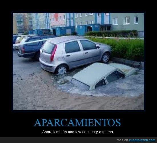 aparcamiento,espuma,lavacoches
