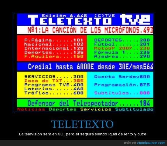 lentitud,poca tecnología,Teletexto