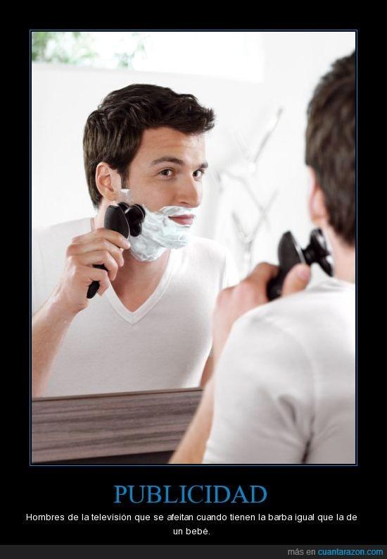 Afeitado,espuma de afeitar,gillette,publicidad,ridiculo