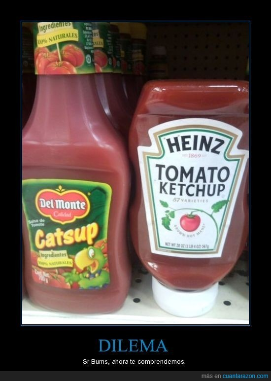 burns,dilema,heinz,ketchup