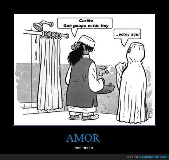 amor,burka,ducha