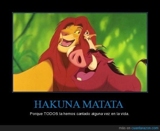 hakuna matata,rey león