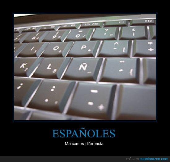 españoles,ñ,teclado