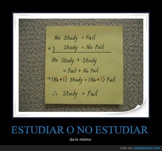 estudiar,fail