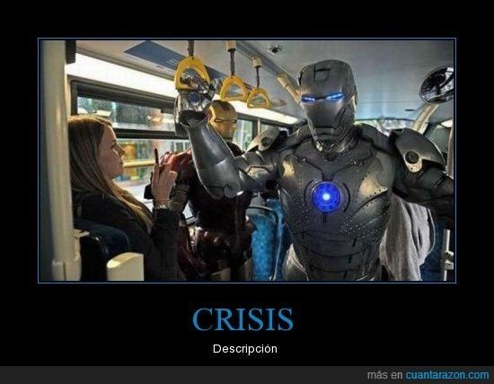 crisis,ironman,transporte público