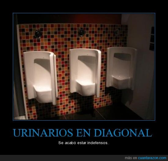 diagonal,indefensos,urinarios