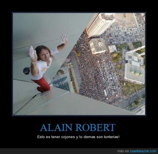 alain robert,cojones,hombre araña