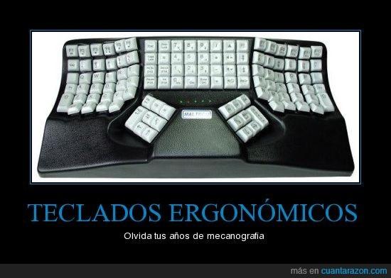 ergonómico,mecanografía,teclado