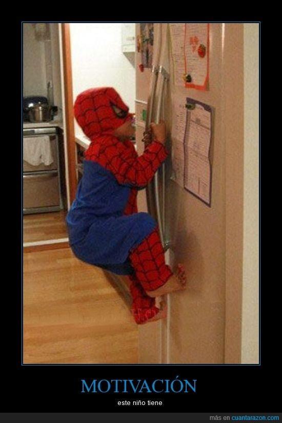 niño,spiderman