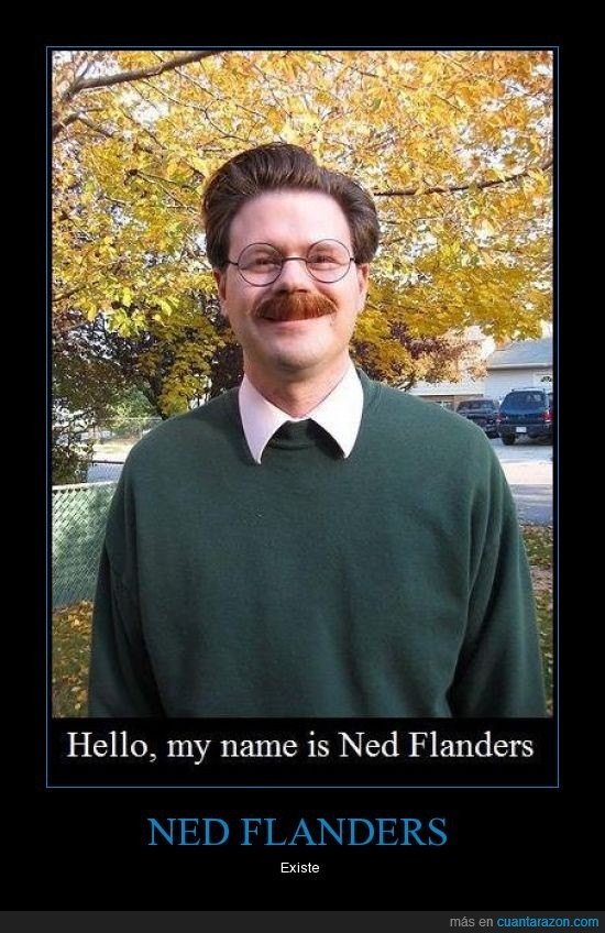 ned flanders,real,simpson