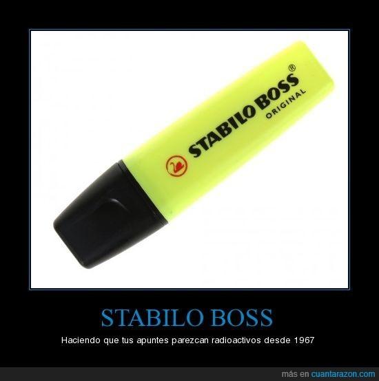 Boss,radioactivos,Stabilo