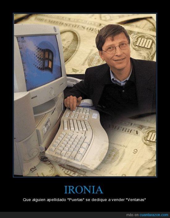 Bill Gates,Puertas,Ventanas,Windows