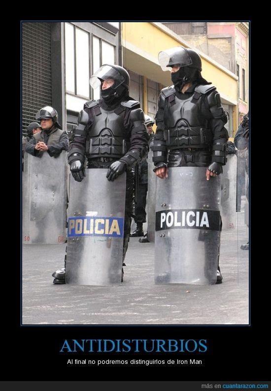 antidisturbios,Iron Man,policia