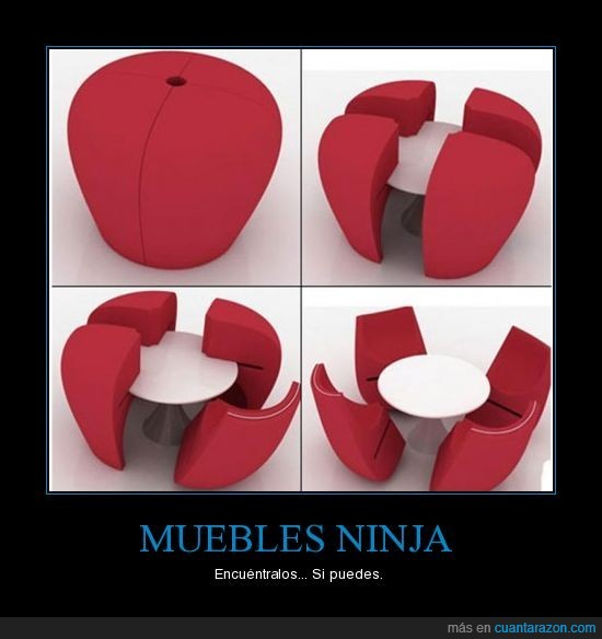 encajar,mesa,muebles,ninja,sillones