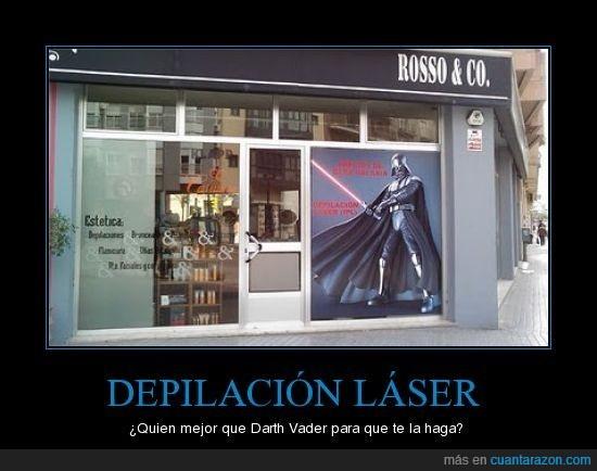 Darth Vader,depilación láser