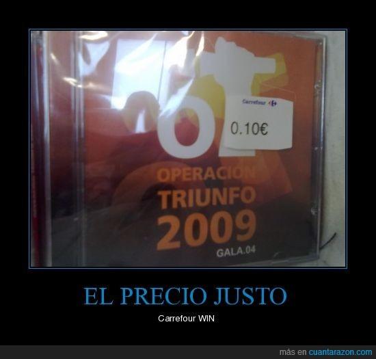 cd,música,operación triunfo,OT,precio justo