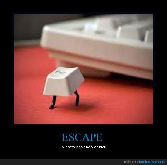 escape,tecla,teclado