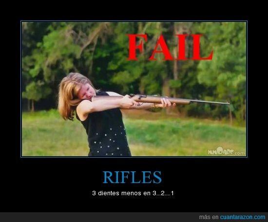 disparar,fuera,retroceso,rifle