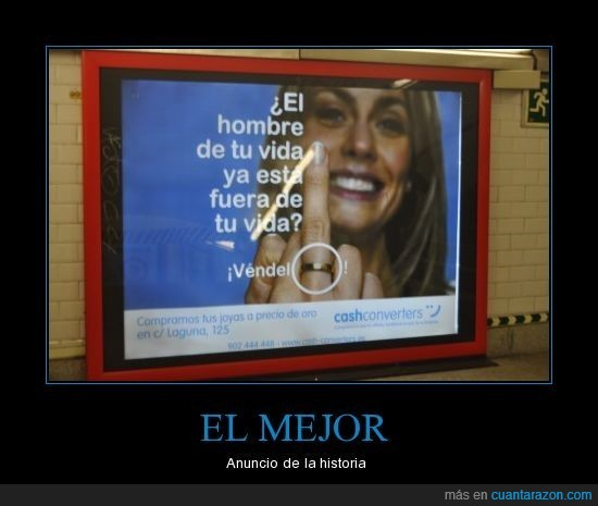 anillo,anuncio,divorcio,metro,vender