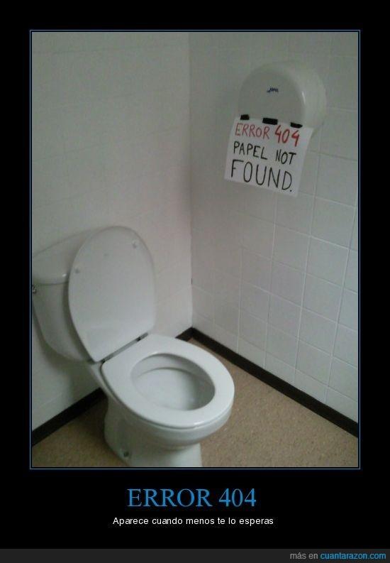 404,baño,error,frikis,papel,toilet