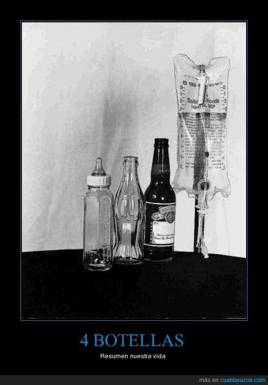 botella,cuatro,resumen,vida