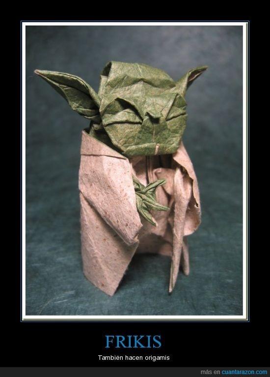 arte,frikis,origamis,papel,yoda