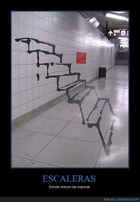 escaleras,ilusiones ópticas