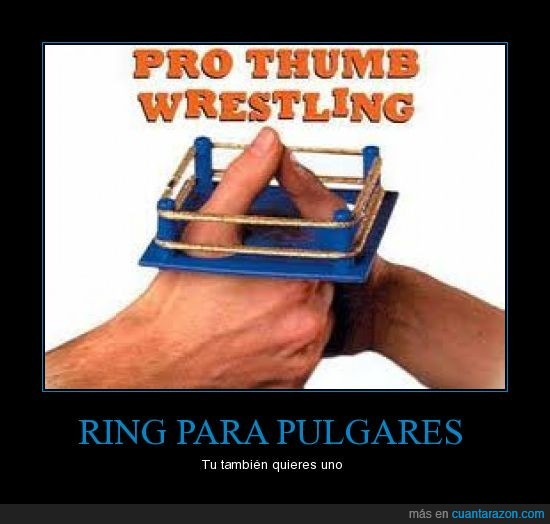 pulgares,ring,wrestling