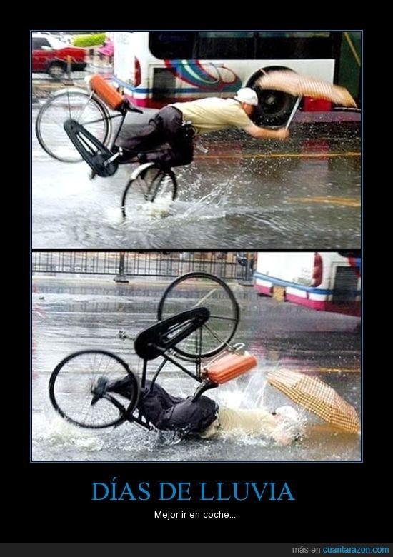 boca,caida,coche,día,lluvia,ostia