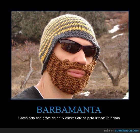 barba,barbamanta,gafas de sol,manta
