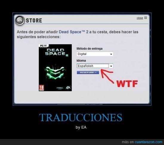 EA,Españolish,nuevo idioma,traduccion