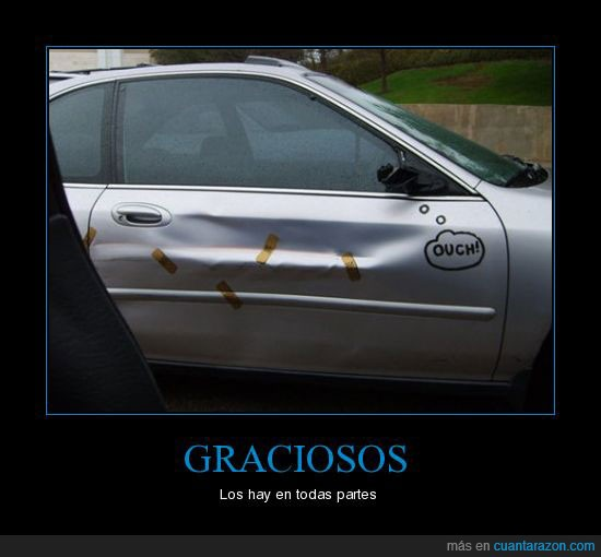 accidente,coche,graciosos,tiritas