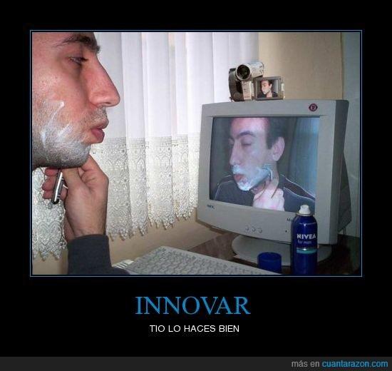 afeitarse,camara,innovar,ordenador