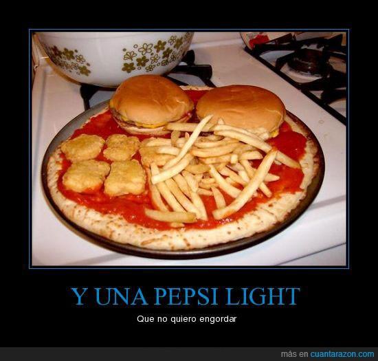 engordar,fritas,hambuguesa,nuggets,ola,patatas,pizza