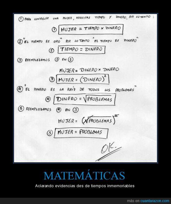matematicas,mujer,problemas