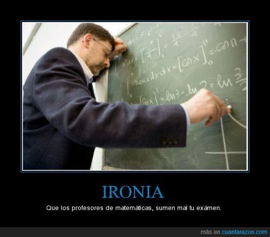 ironia,matemáticas,profesores