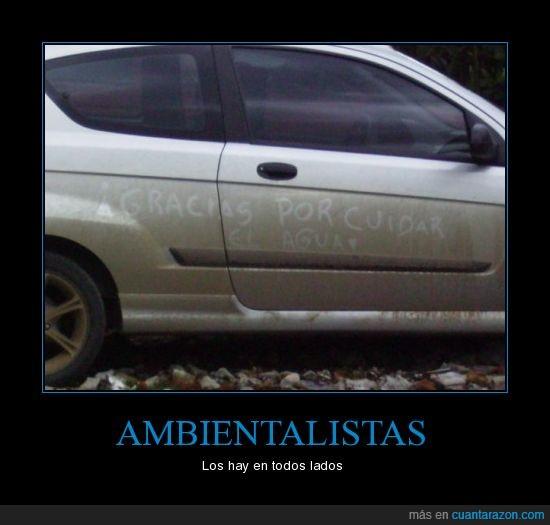 Ambientalistas,carros,hay,lados