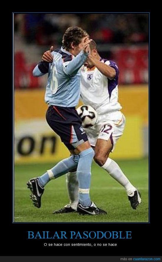 bailar,fútbol,jugadores,pasodoble