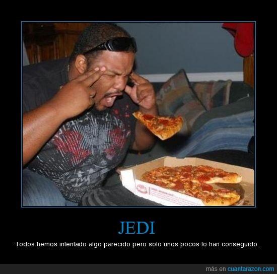 Jedi,levitar,pizza,truco mental
