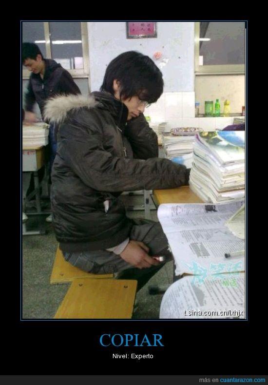 Copiar,examen,experto,ninja